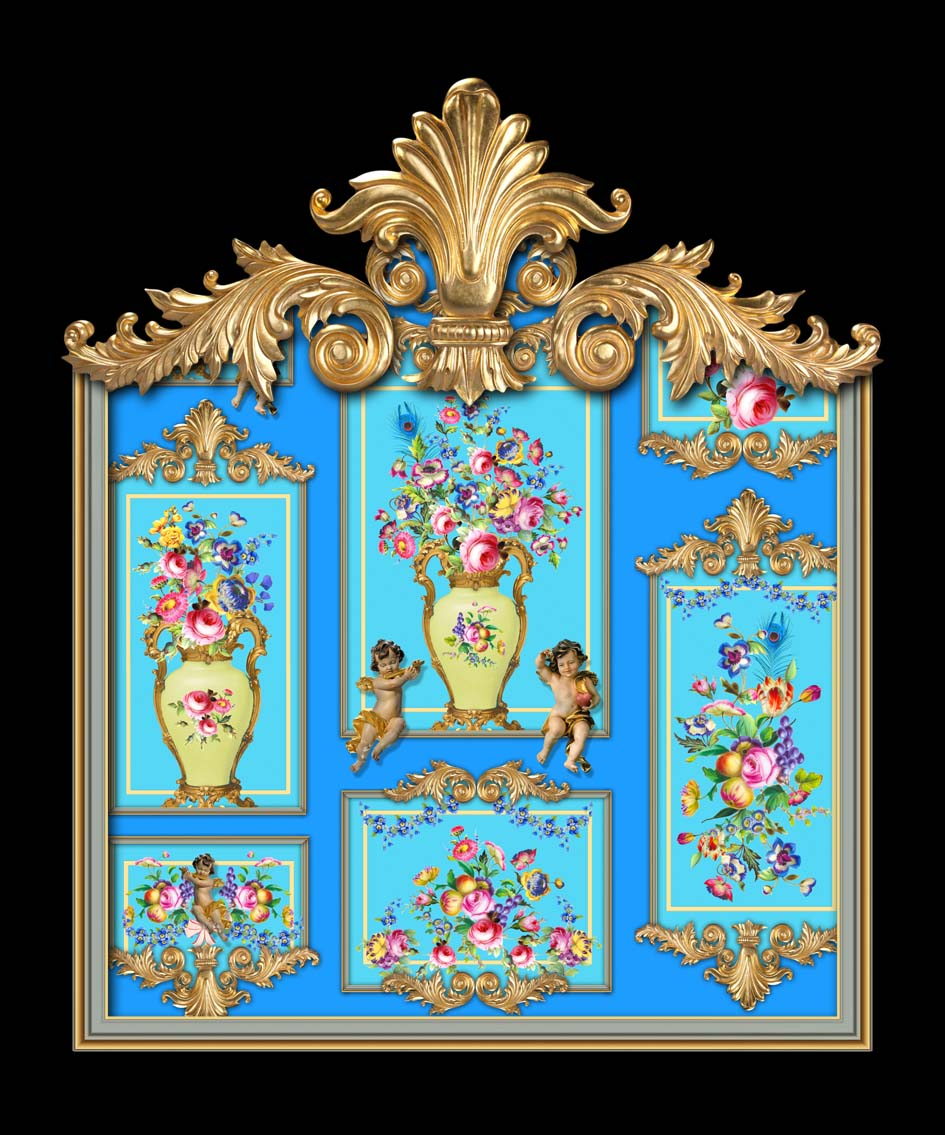 Versailles Gallery in Turquoise