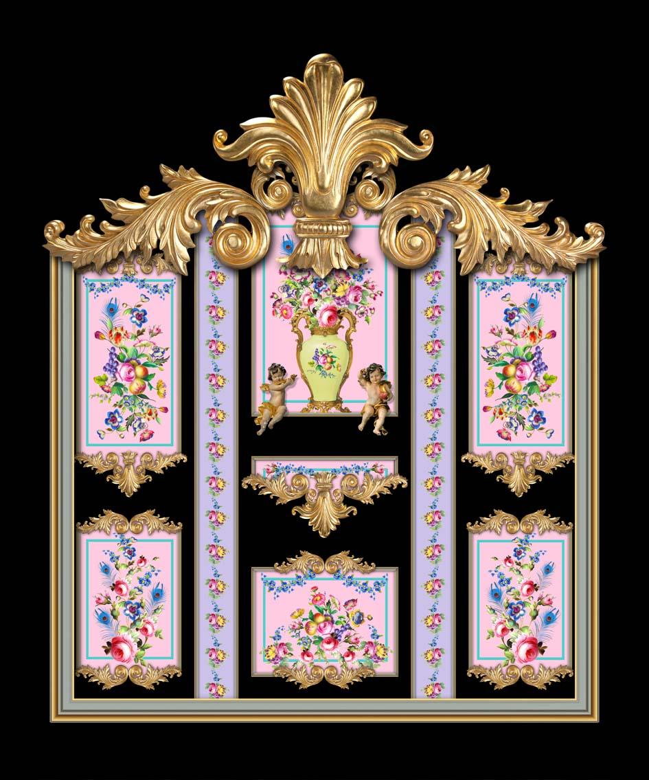 Versailles in Black, Pink & Lilac
