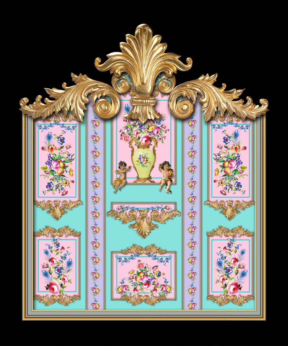 Versailles in Mint, Lilac & Pink