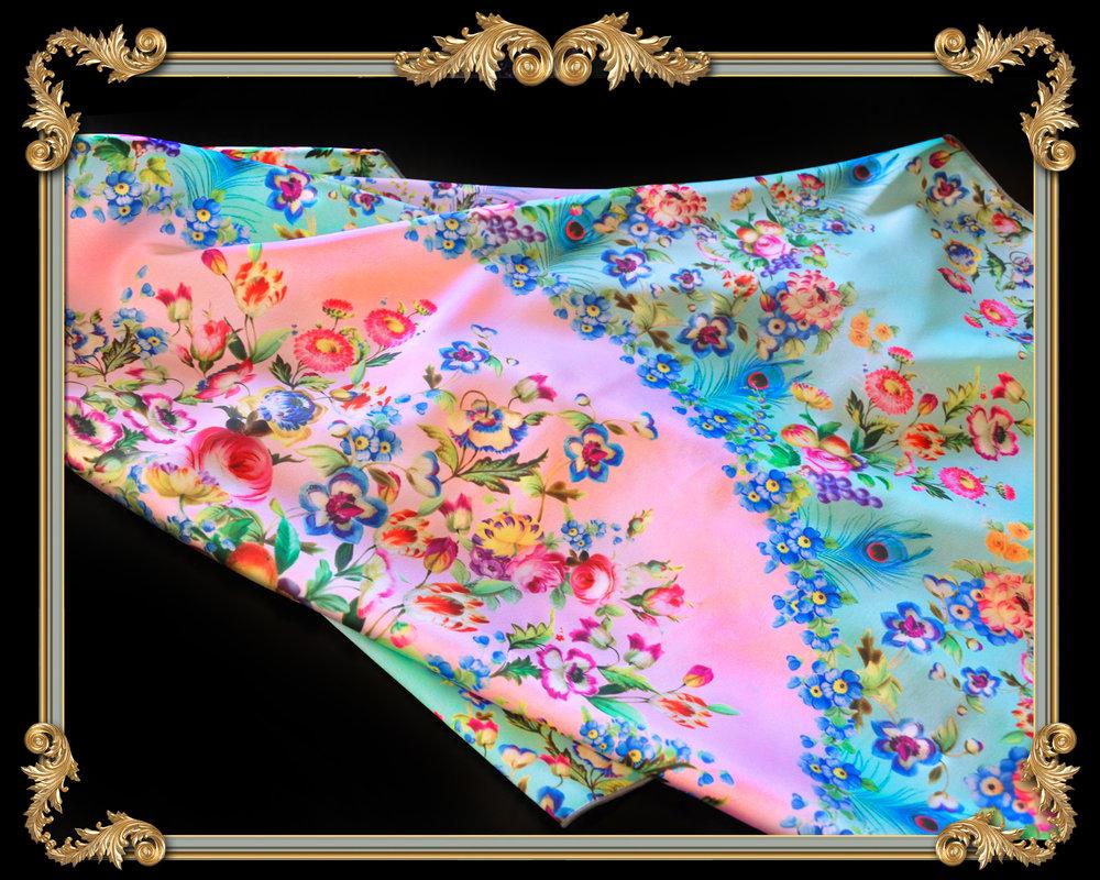 paradis maison silk scarf