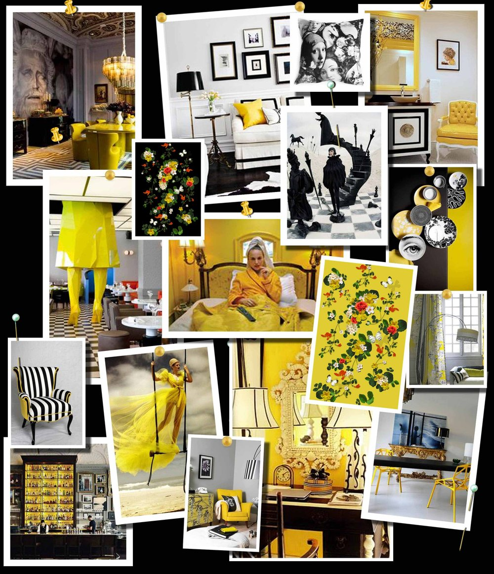 Yellow and Black Moodboard