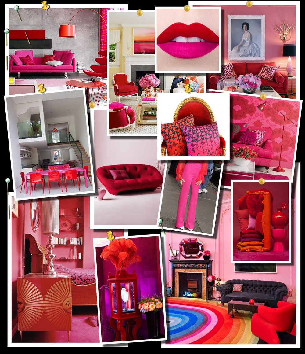 Red and Pink Color Scheme Moodboard