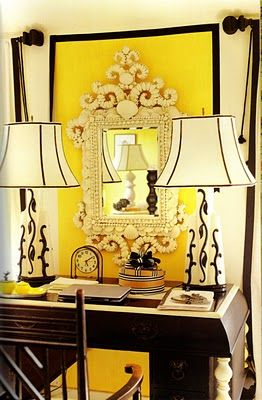 yellow interior design