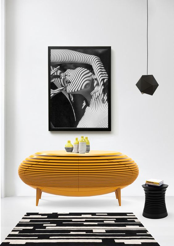 yellow black decor