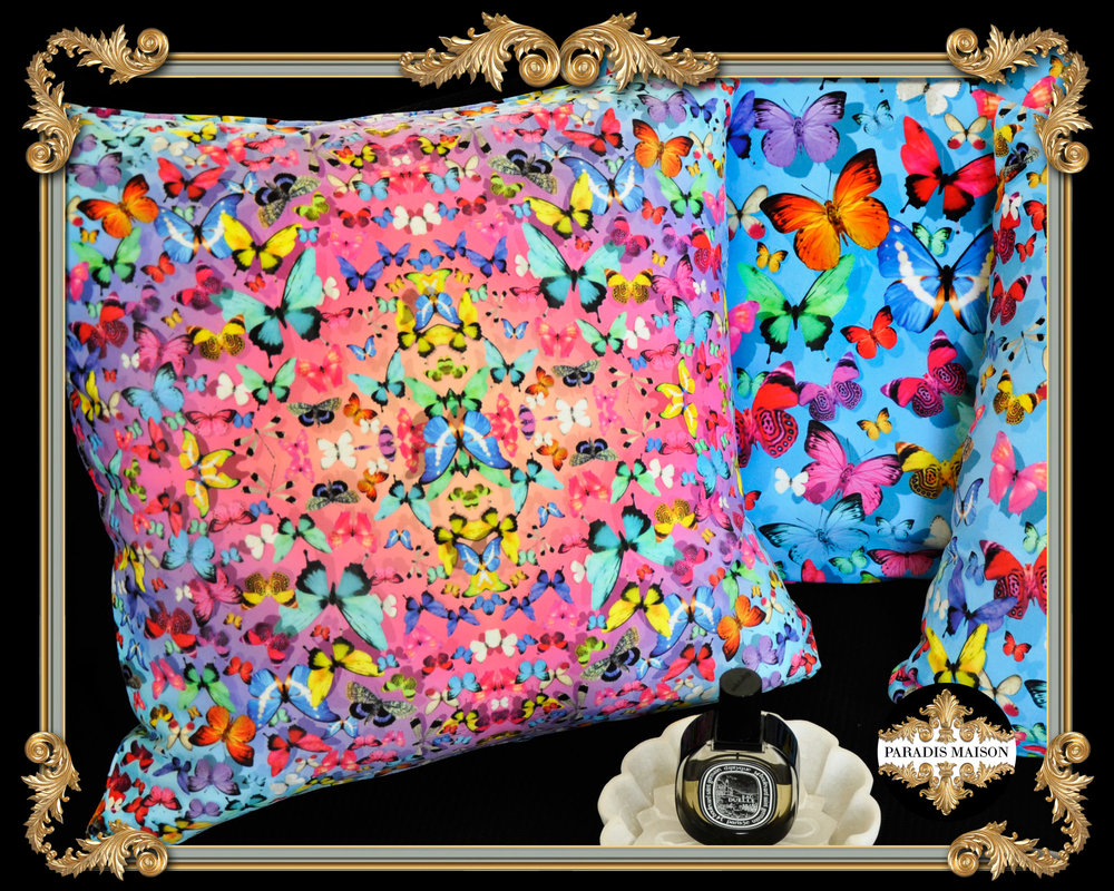 COLORFUL BUTTERFLY PILLOW COVERS