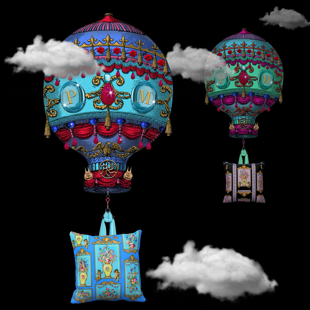VINTAGE HOT AIR BALLOON DECOR