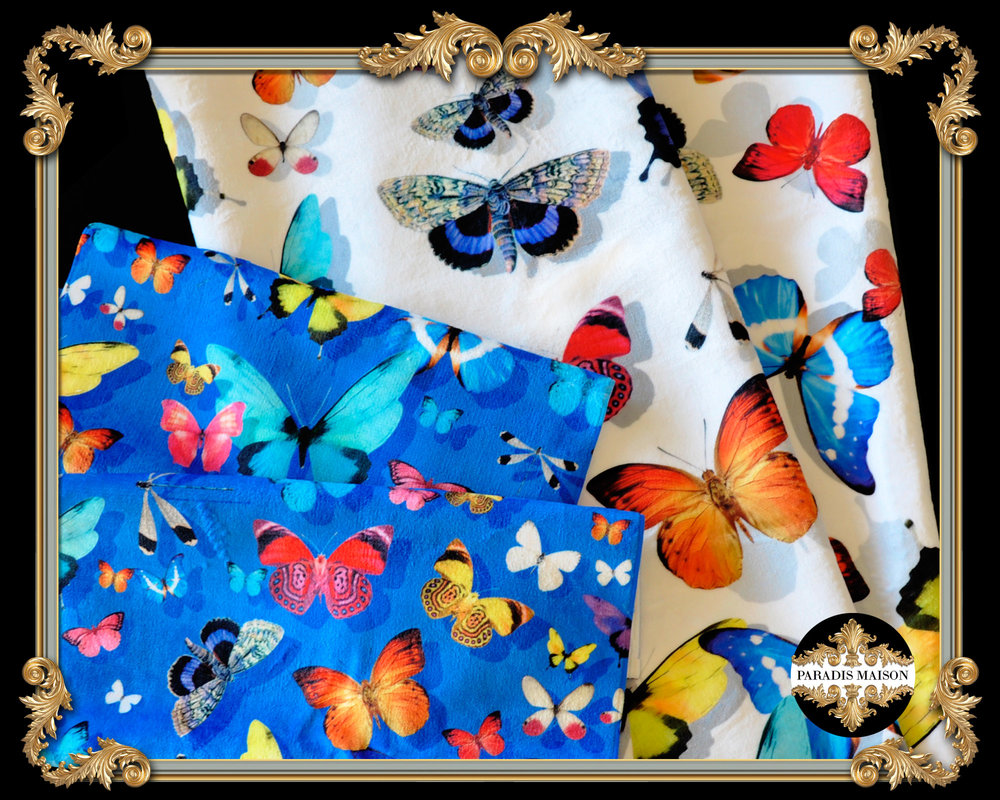 BUTTERFLY BATH TOWELS PARADIS MAISON
