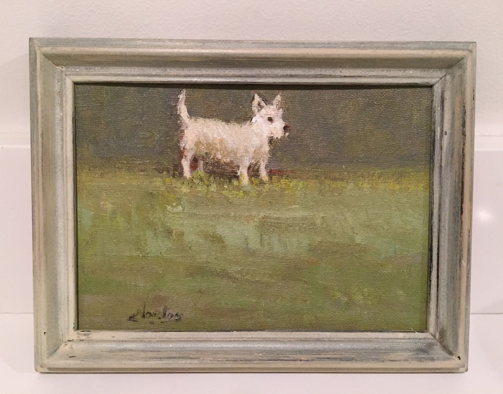 Tiny terrier painting
