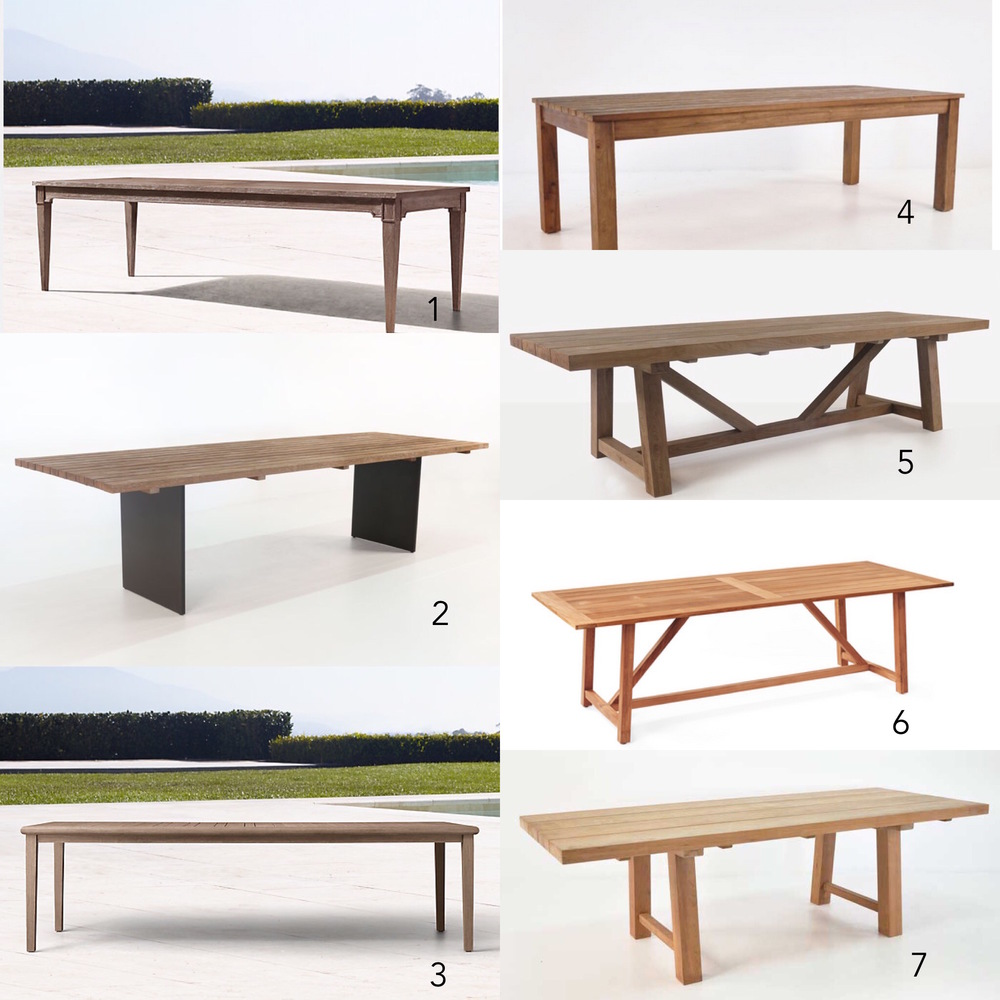 Lily Spindle Top Outdoor Dining Tables