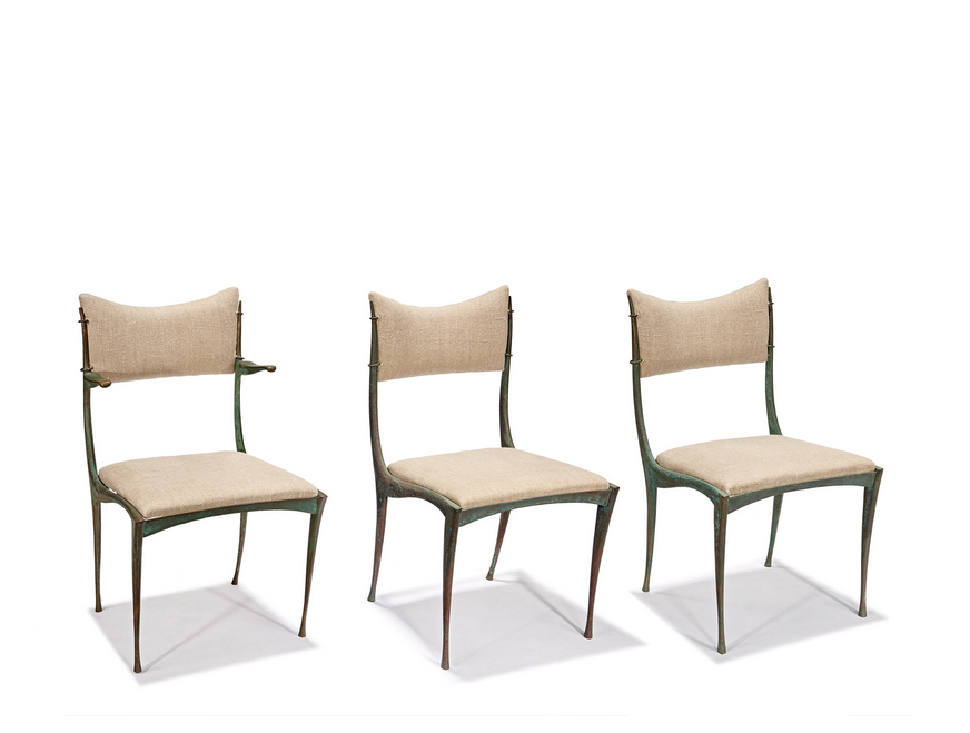 Set of six 1958 Dan Johnson dining chairs. (Lot 134, estimated. $20,000-$30,000)