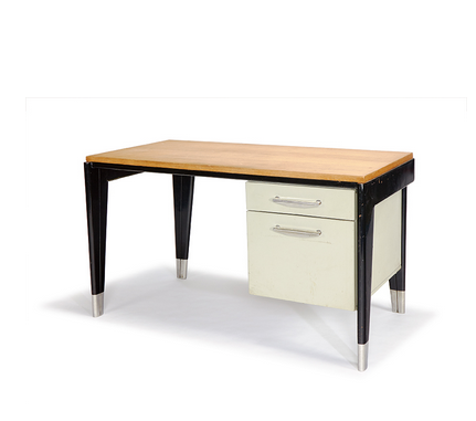 Jean Prouve Dactylo desk. Designed c. 1950 Model no. BD 41. (Lot 16, estimated $20,000-$30,000)