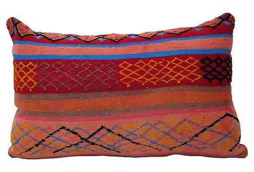 Vintage Moroccan pillow; $450; Habibi Imports.