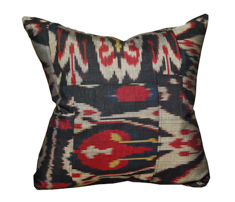 Mid-20th century Indonesian silk Ikat pillow, $330; 1stdibs.