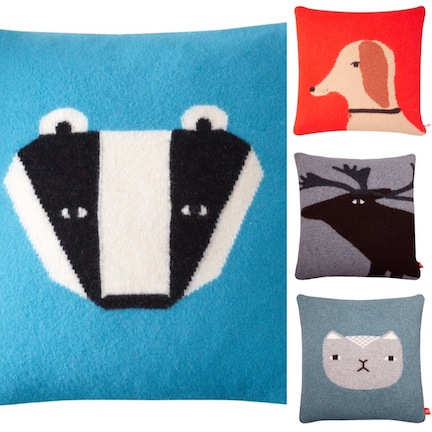 Donna Wilson wool pillows - Badger, Pup, Elk, and Kitty; $140/each