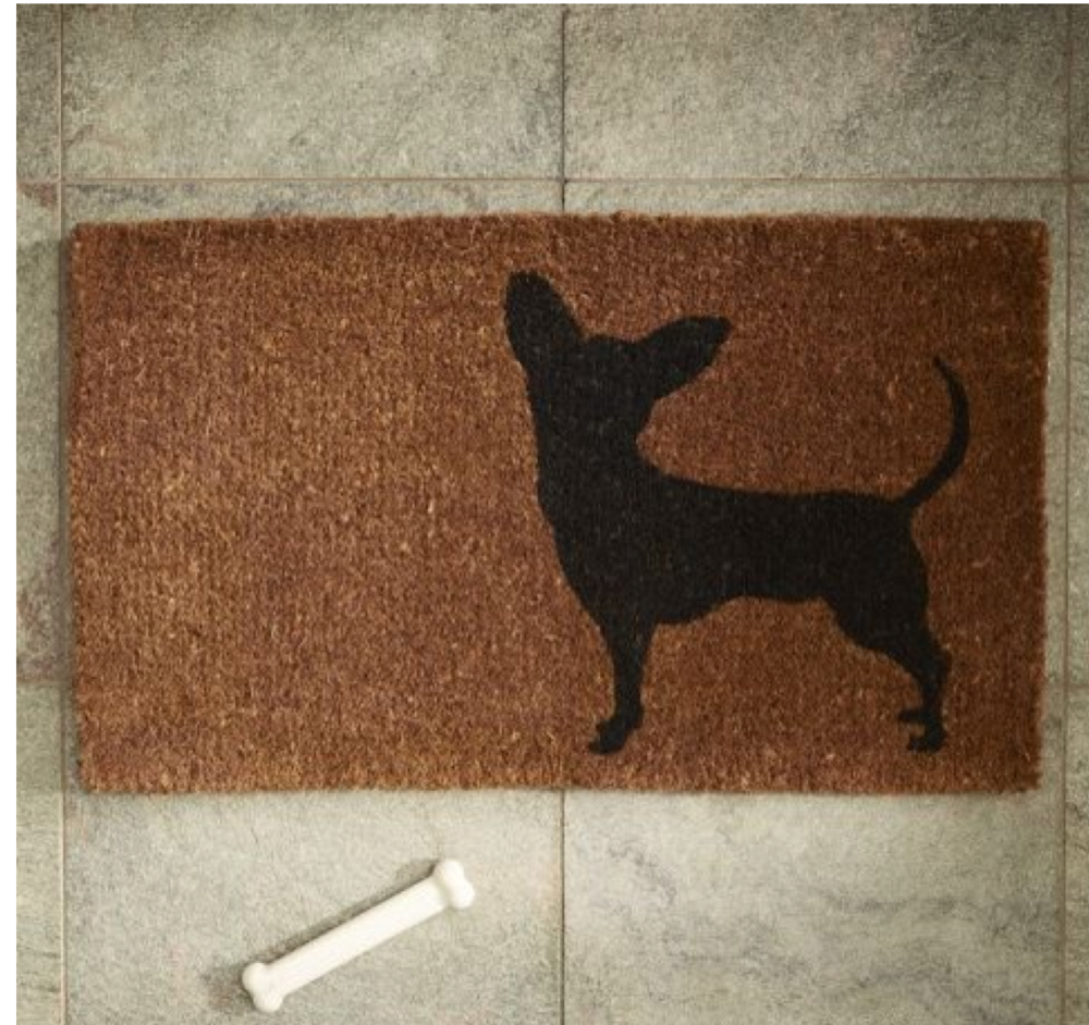 Proud dog owners, heads up! This jute doormat from Nino is available   here