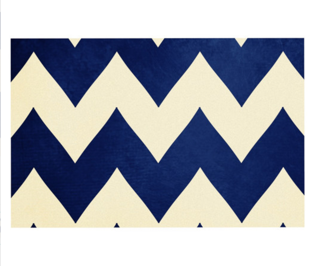 In a bold graphic chevron and made of vinyl, this Catherine McDonald design is all sorts of audacious. Get 'em   here