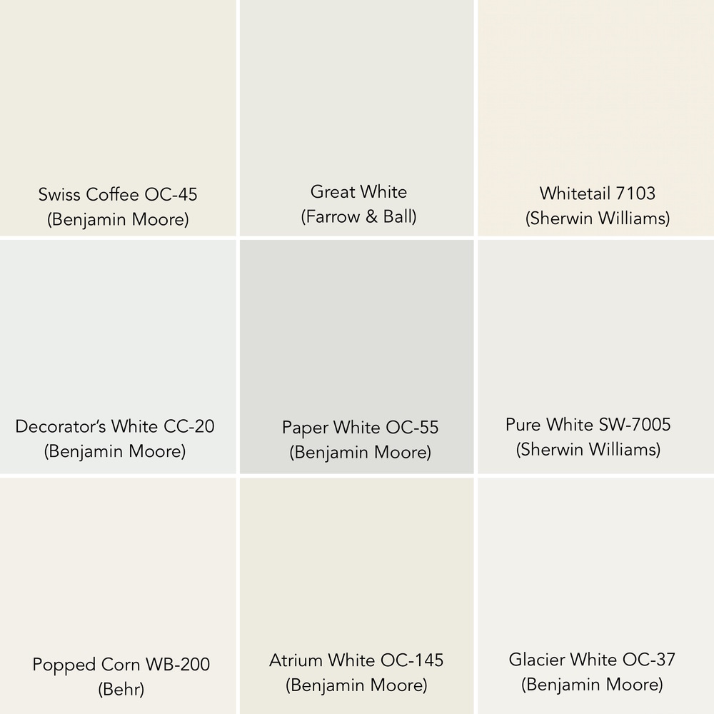 Some of our favorite whites pulled together as evidence - no white is exactly like any other.