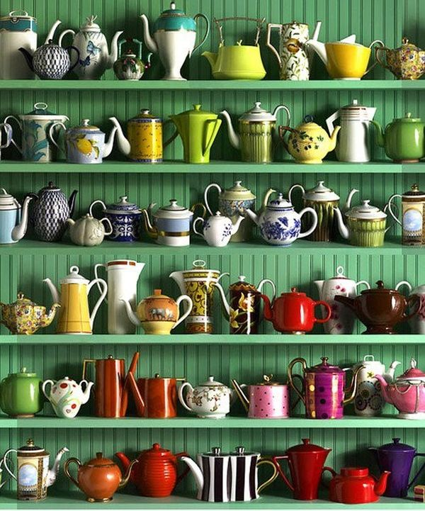 Teapots- short and stout, English, Asian, new and old.
