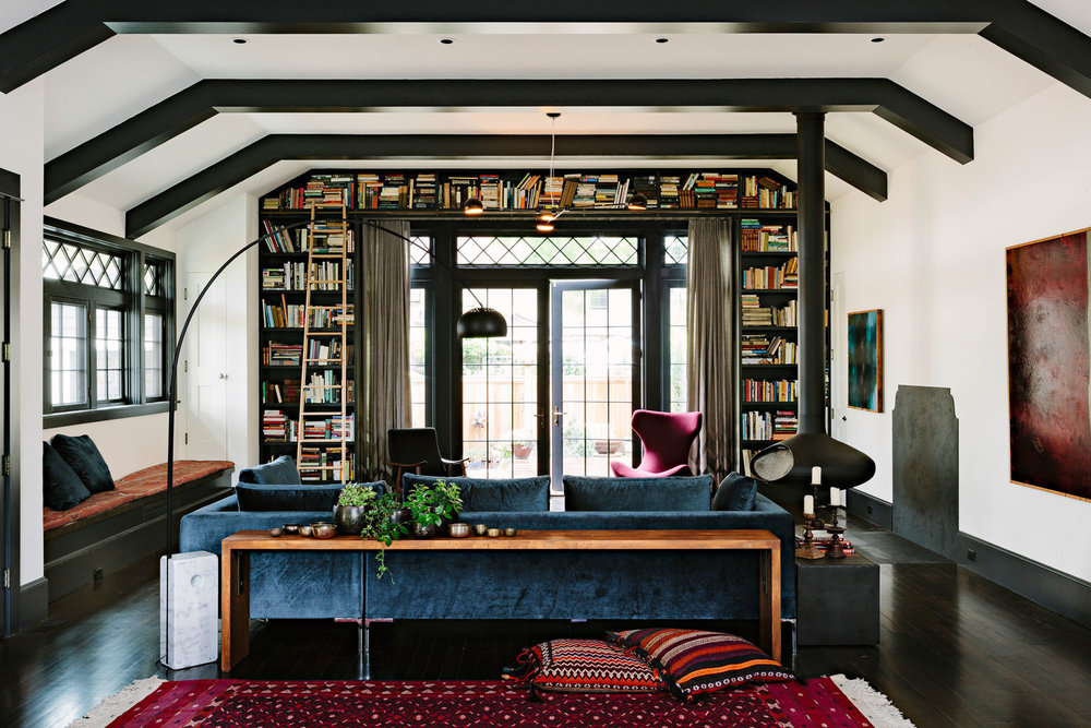 """""""The Library House"""" by designer  Jessica Helgerson . Once an actual library, this home still reveres its books."""