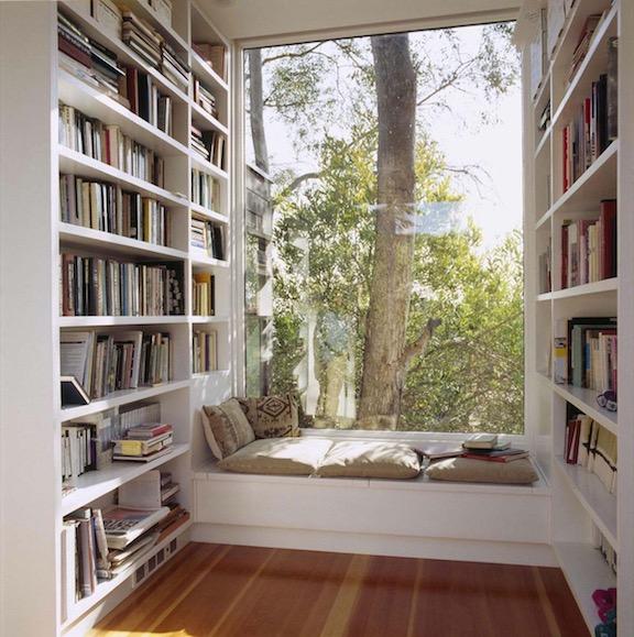 A well-lit window seat. (Source: Pinterest)