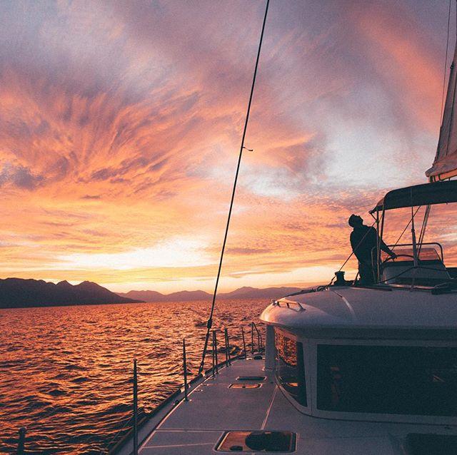 Yesterday's sunset 🌅⛵️ #saltyleisure #lagooncatamarans #visitgreece