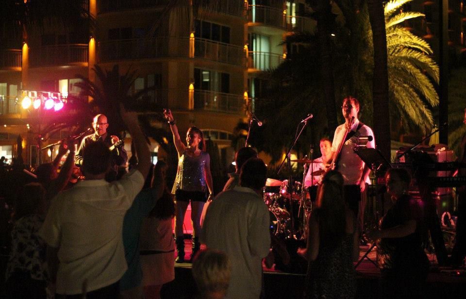 marriott marco island - corporate beach party