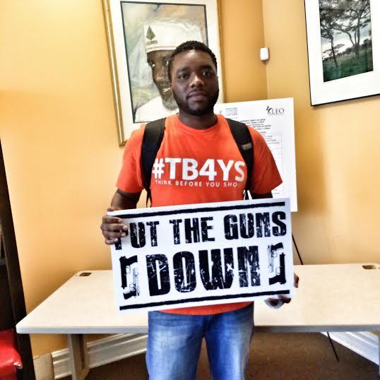"Creator Anthony J. Sturdivant at Mayor Rahm's ""Put The Guns Down"" Press Conference"