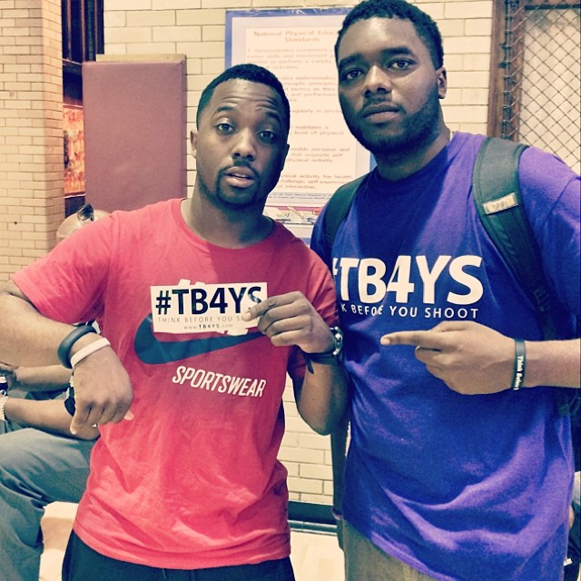 Creator/writer Anthony J. Sturdivant with Chi-league host and supporter Dwayne Young (YoungWayne00)