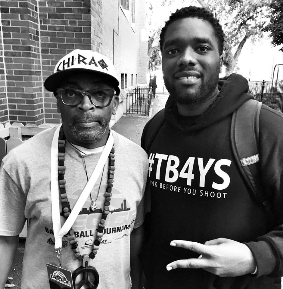 President Anthony J. Sturdivant and Film Director Spike Lee