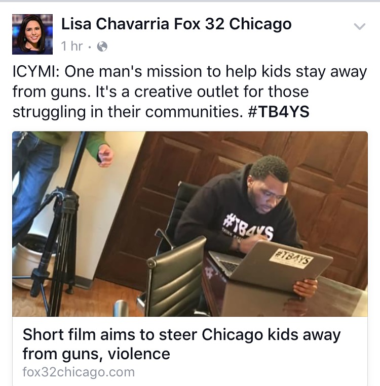 Click on image above to see the one on one interview with Anthony J. Sturdivant and Lisa Chavarria of FOX 32 News.