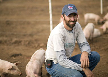 "Jeremiah Jones: President of the Growers Cooperative ""NC Natural Hog Growers Association"", Farmer and Owner of Grassroots Pork Company"