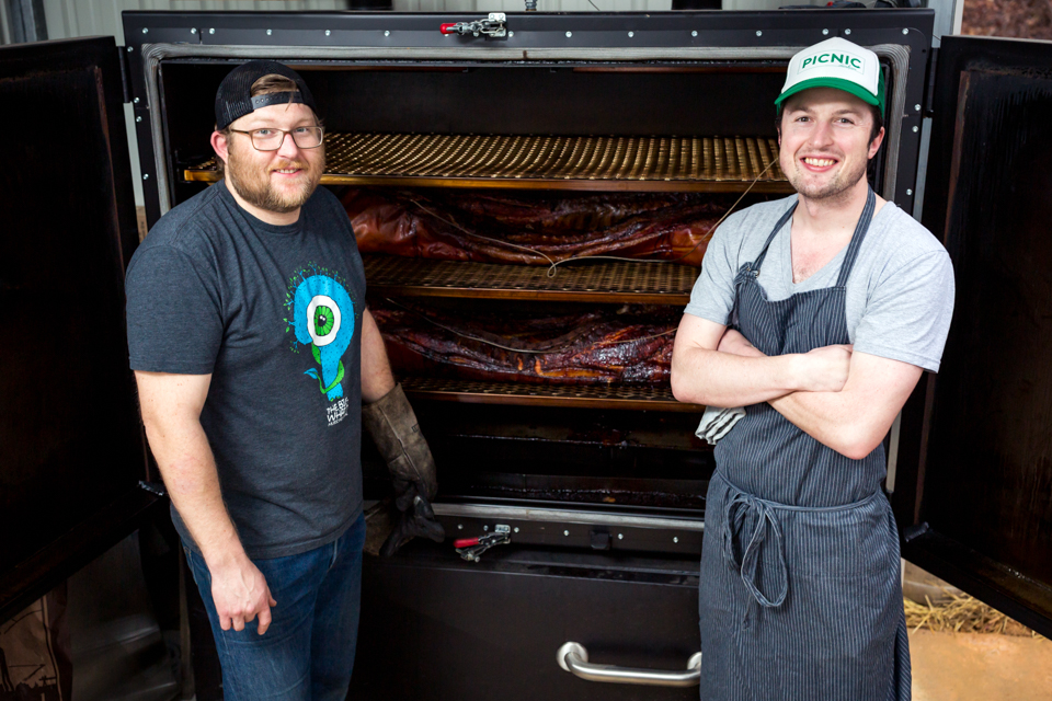 Wyatt Dickson, co-owner and Pittmaster, Picnic Durham, Whole Hog BBQ and Seasonal Sides