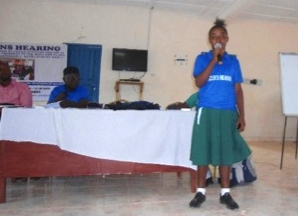 Girl speaking at Kailahun Hearing Sierra Leone.jpg