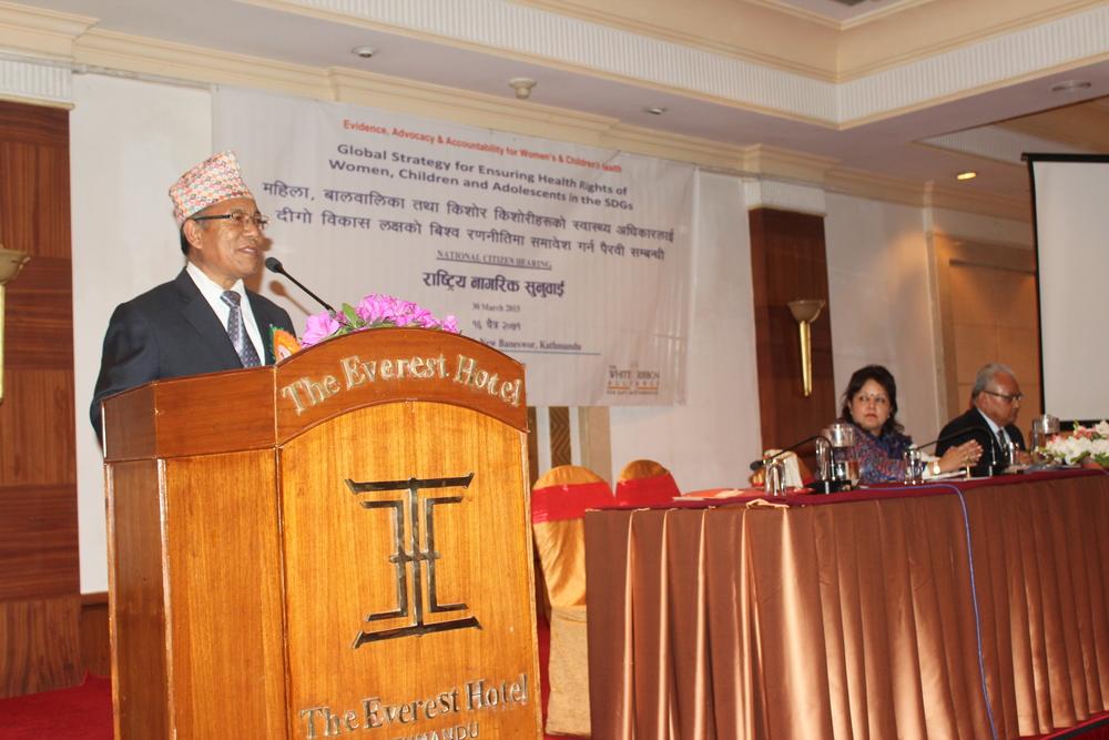 TBC-Mr. Dhan Bahadur Tamang, Secretary, Ministry of Women .JPG