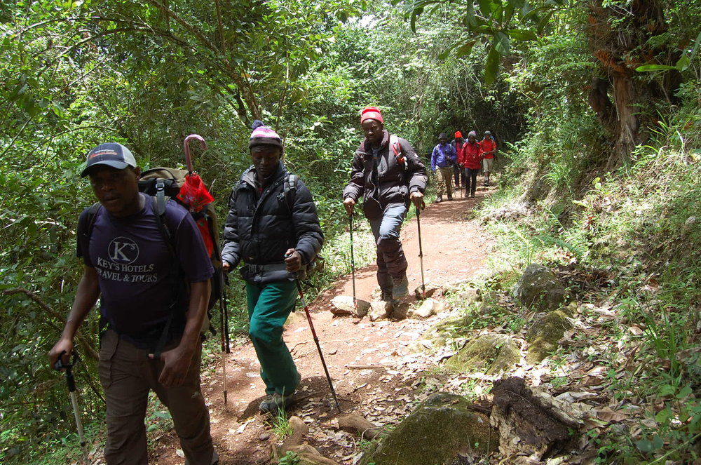 WRA Tanzania climbed Mt. Kilimanjaro to show there will be no tolerance for preventable maternal deaths in Tanzania. Photo Credit: WRA Tanzania.