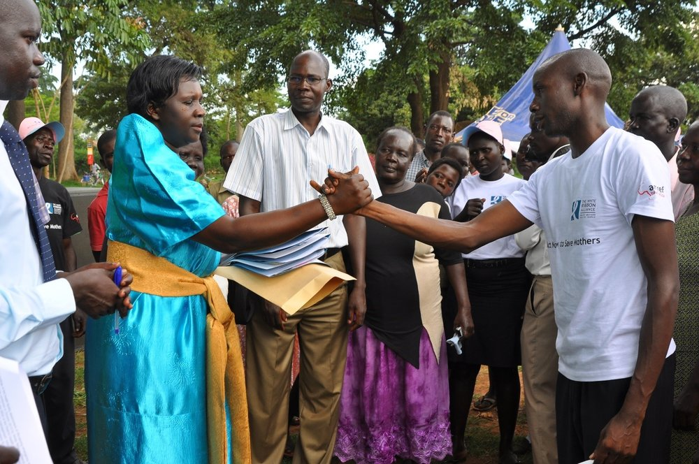 Hon. Atim Joy Ongom, Woman Member of Parliament, Lira District, meeting with WRA Uganda supporters. Photo Credit: WRA Uganda.