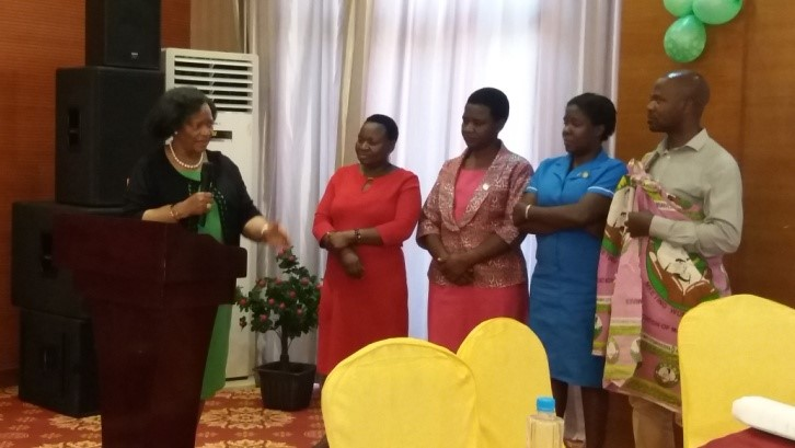 Handover ceremony to government of Malawi representatives of the Respectful Maternity Care project. Photo: White Ribbon Alliance Malawi.