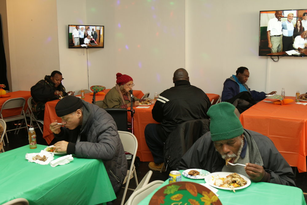 A very appreciative crowd enjoyed a well-deserved meal.