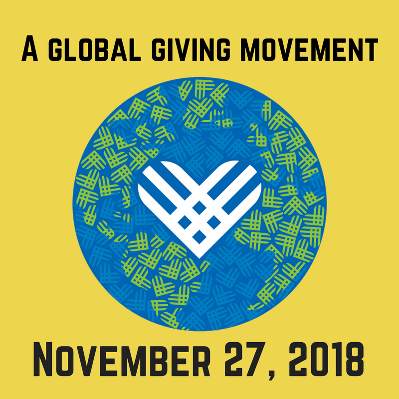 Giving Tuesday is on November 27th, 2018!