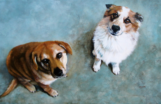Lauren Adams, Acrylic Pet Portraits