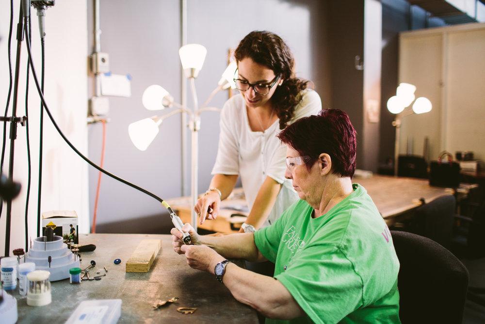 Kate Furman, Continuing Jewelry Fabrication Photo Credit: Angela Zion