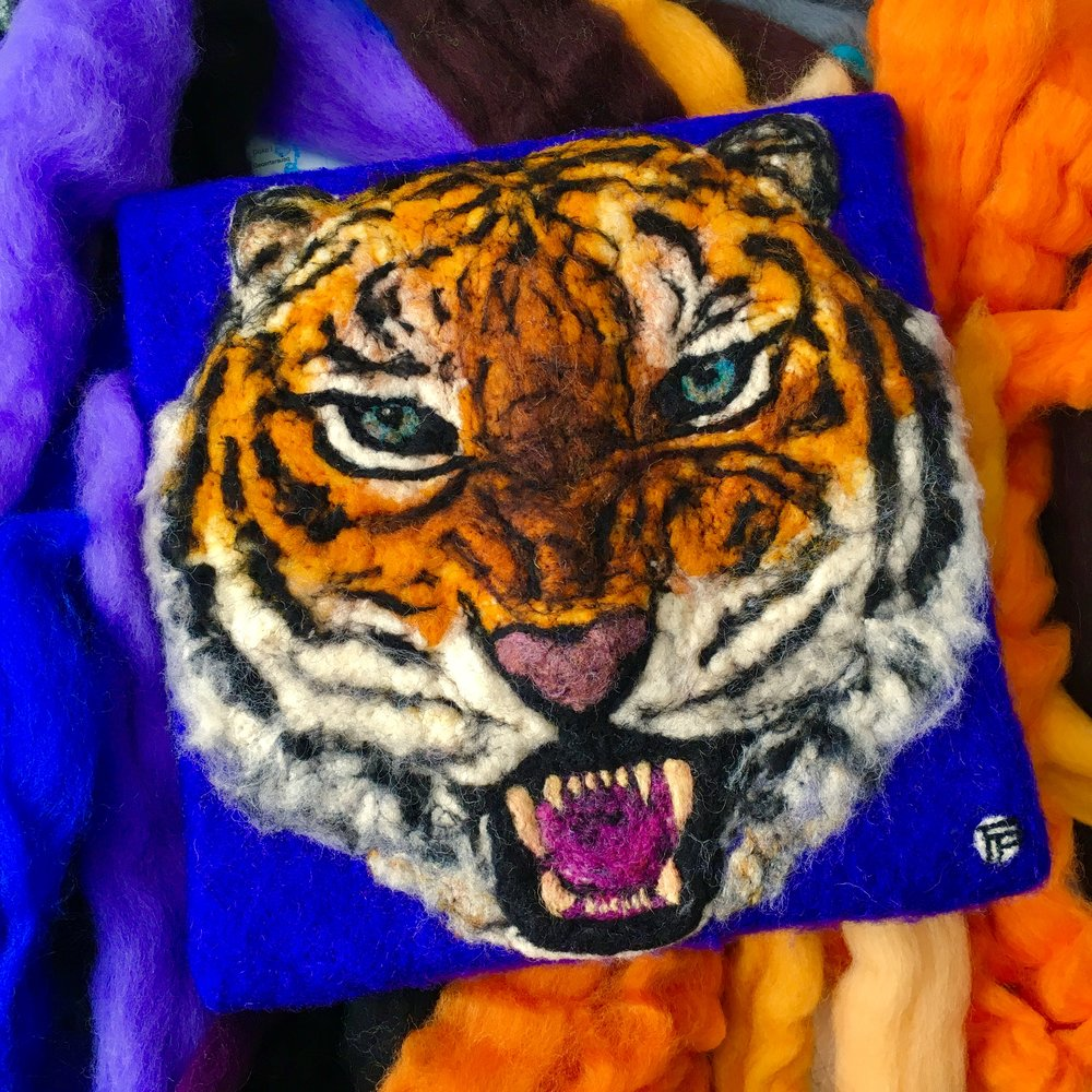 Cecilia Ho, Wool Painting: Tiger