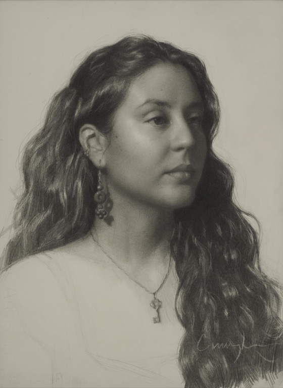 Angela Cunningham, Portrait Drawing from the Live Model