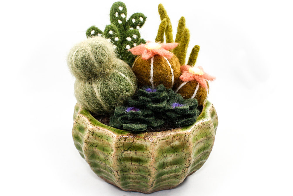 Sarah Mandell, 3D Needle Felting - Cactus