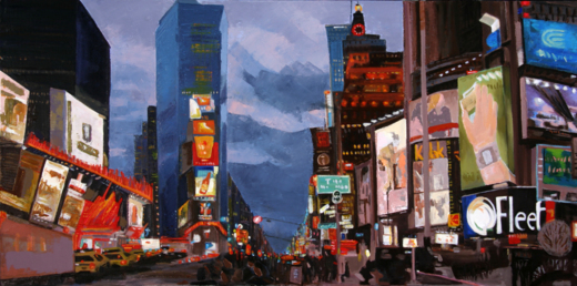 New York, New York, 30x60in, oil,.jpg