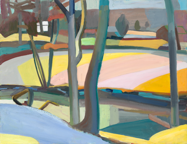 """""""The Meander in Snow,"""" oil on linen, 26 x 28 inches Courtesy of the artist and Gross McCleaf Gallery, Philadelphia, PA"""