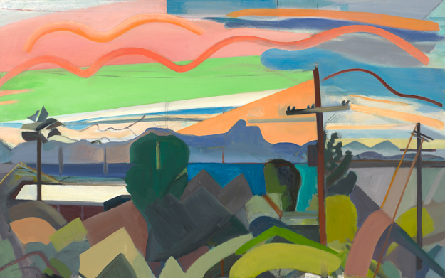 """""""Tucson Sunset,"""" oil on linen, 30 x 48 inches Courtesy of the artist and Gross McCleaf Gallery, Philadelphia, PA"""