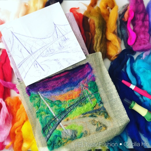 Cecilia Ho, From Image to Wool Painting