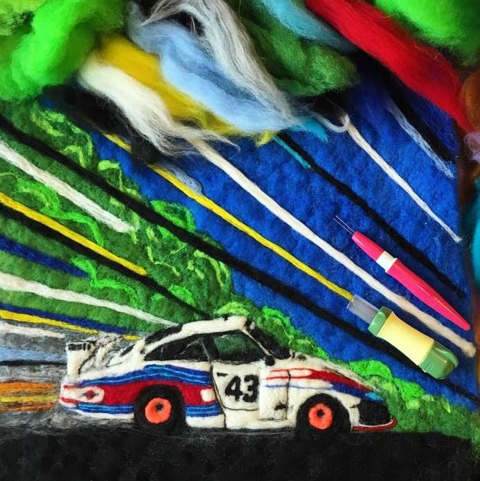 5_26 Car motif wool painting.jpg