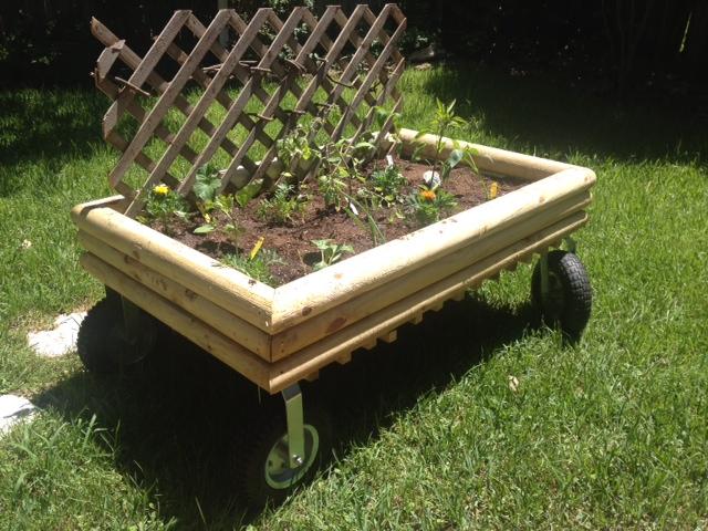 The lovely mobile garden my true love built this spring.